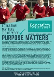 EMG Tip if the week - 3. Purpose Matters