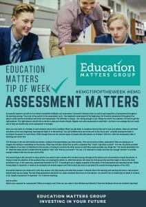 EMG Tip if the week - 4. Assessment Matters