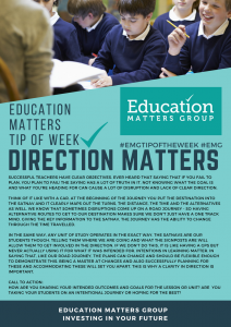 Tip if the week - 2. Direction Matters