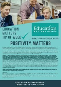 EMG Tip if the week - 6. Positivity Matters
