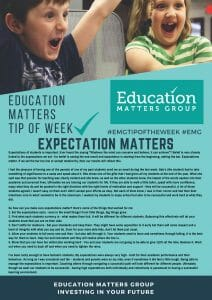 EMG Tip if the week - 8. Expectation Matters