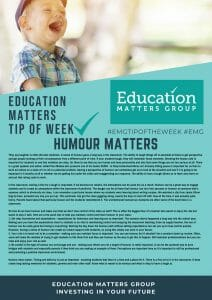 EMG Tip if the week - 9 Humour Matters 1