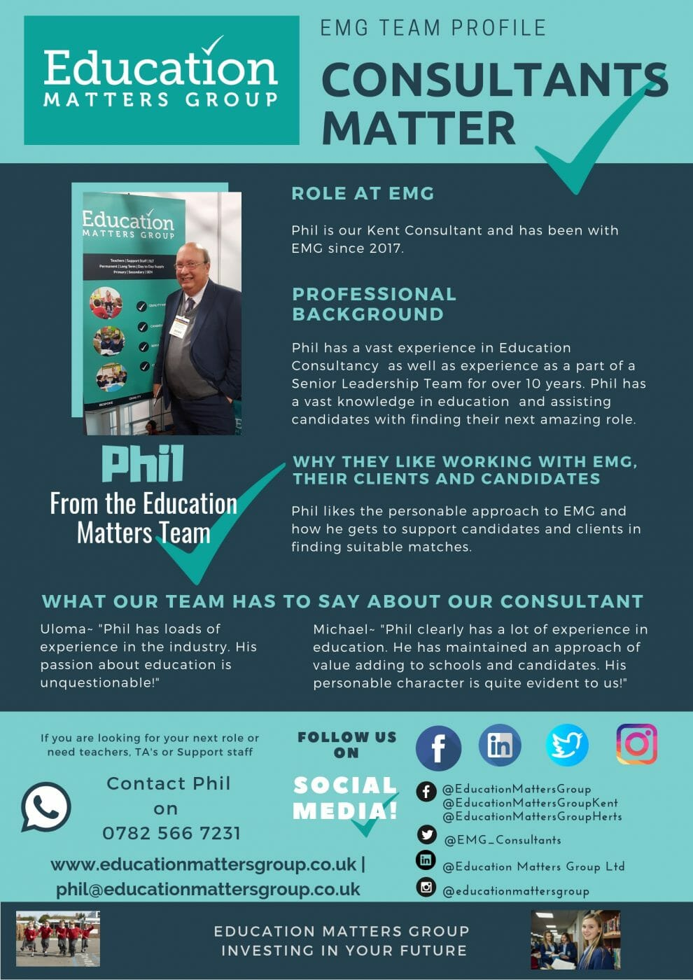 6f0736cf9d0 Meet the EMG Team – Introducing Phil - Education Matters Group