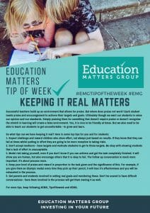 EMG Tip if the week 10. Keeping it Real Matters