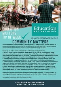 EMG Tip if the week - 14. Community Matters