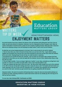 EMG Tip if the week - 15. Enjoyment Matters