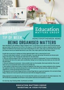 EMG Tip if the week - 30. Being Organised Matters