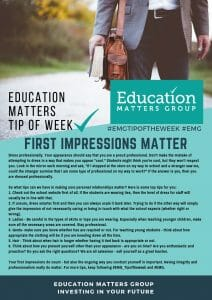 EMG Tip if the week - 37. First impressions matter
